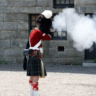 Halifax Citadel Guard Firing Gun